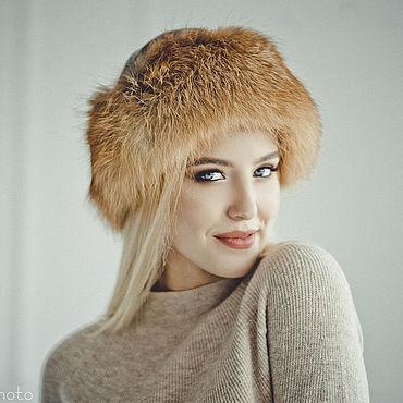 Аксессуары ручной работы. Ярмарка Мастеров - ручная работа Меховая шапка боярка из лисы женская. Handmade.