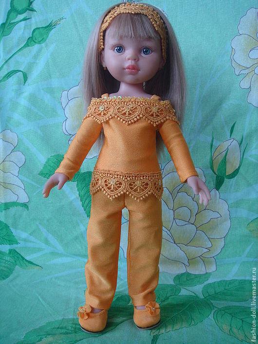 Одежда для кукол ручной работы. Ярмарка Мастеров - ручная работа. Купить Костюм+обувь на куклу 32см. Paola Reina коллекция радуга. Handmade.