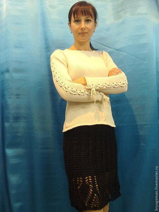 """Юбки ручной работы. Ярмарка Мастеров - ручная работа. Купить юбка """"Ананасовая кайма"""". Handmade. Черный, юбка"""