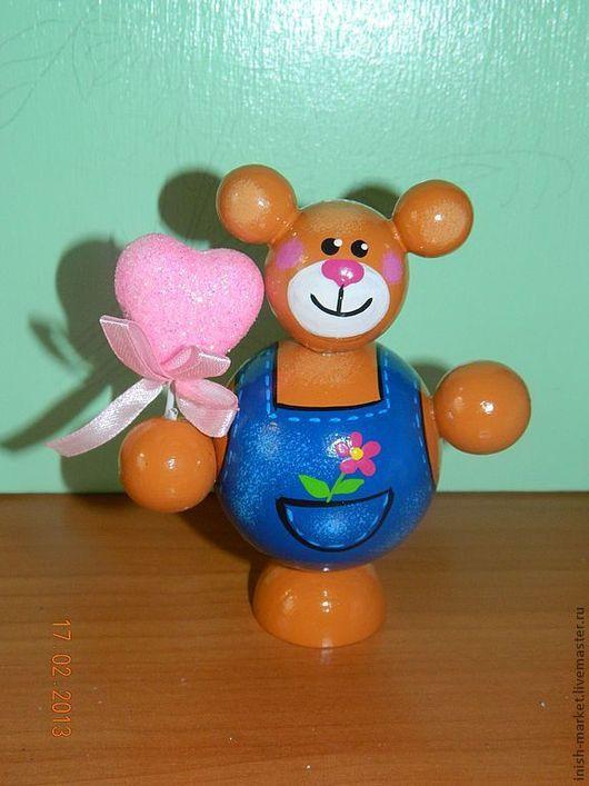 Человечки ручной работы. Ярмарка Мастеров - ручная работа. Купить Влюбленный мишка. Handmade. Мишка, подарок на 8 марта, кукла