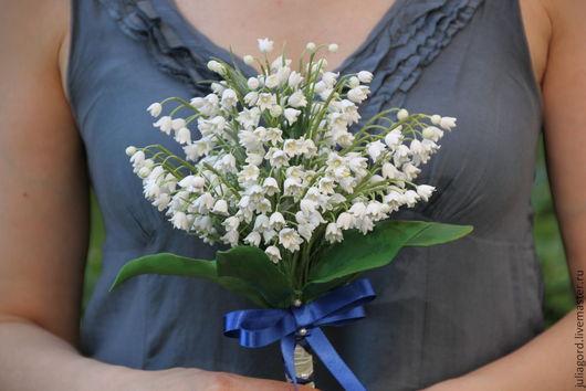 """Свадебные цветы ручной работы. Ярмарка Мастеров - ручная работа. Купить Букет невесты """"Ландыши"""". Handmade. Белый, букет"""