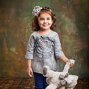 Работы для детей, handmade. Livemaster - original item Felted tunic for girl