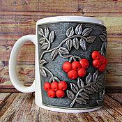 Посуда handmade. Livemaster - original item Mug of Rowan handmade.Polymer clay decor.. Handmade.