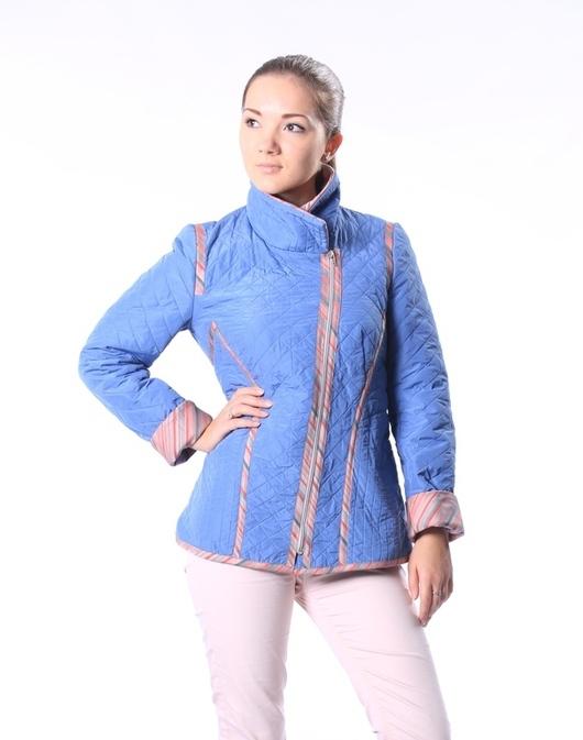 Верхняя одежда ручной работы. Ярмарка Мастеров - ручная работа. Купить Куртка стеганая жемчужно-голубая - скидка 30%. Handmade.