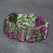 Украшения handmade. Livemaster - original item Bracelet made of natural ruby in zoisite. Handmade.