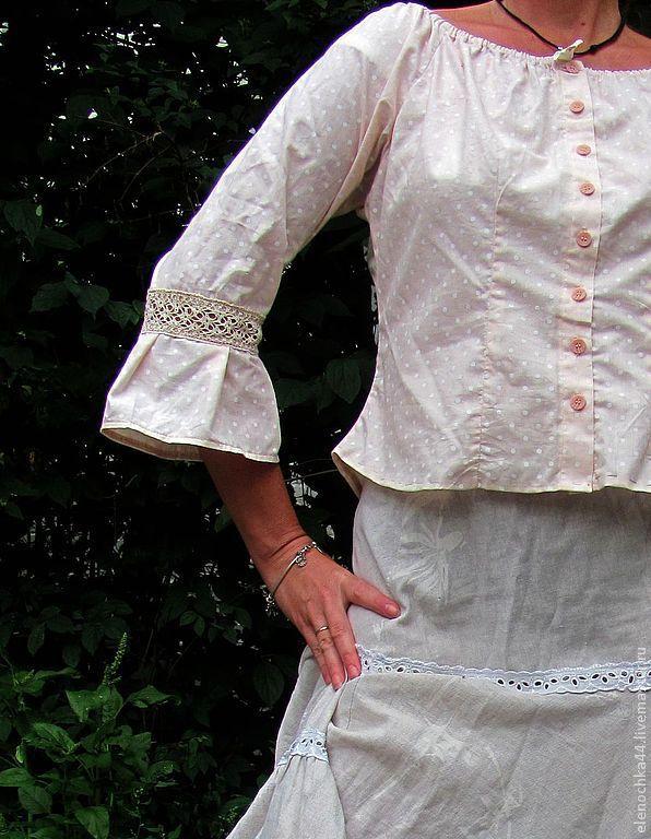 Блузка крестьянка купить с доставкой
