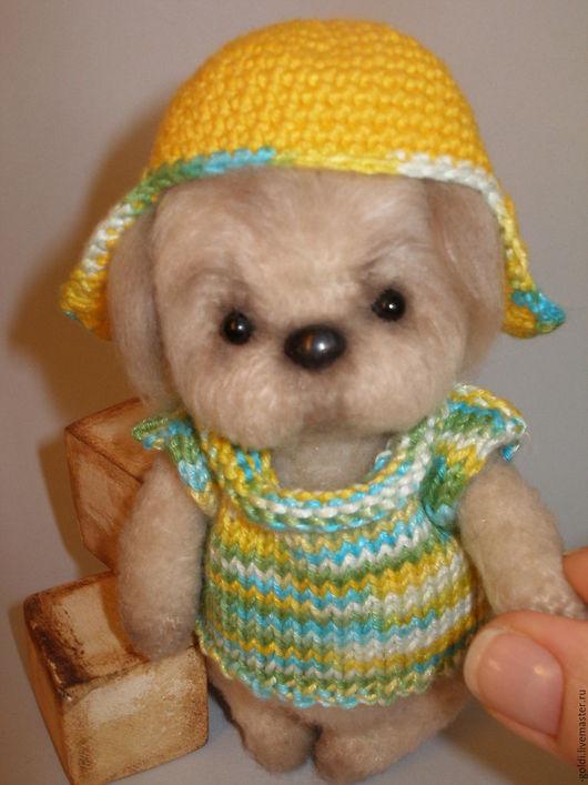 Мишки Тедди ручной работы. Ярмарка Мастеров - ручная работа. Купить Щенок. Handmade. Бежевый, собачка игрушка, щенок игрушка