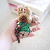 Куклы и игрушки ручной работы. Ярмарка Мастеров - ручная работа Маленький пушистый зайка. Handmade.