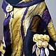 Шали, палантины ручной работы. Палантин валяный фиолетовый с желтым. Elvira Pilyutskaya. Интернет-магазин Ярмарка Мастеров. Палантин, тепло