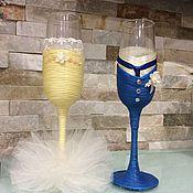 """Свадебные бокалы """" Жених и невеста"""""""