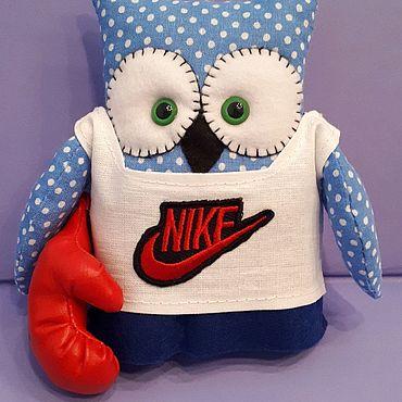 Куклы и игрушки ручной работы. Ярмарка Мастеров - ручная работа Совушка-спортсменка. Handmade.