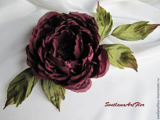 Цветы ручной работы. Ярмарка Мастеров - ручная работа. Купить Роза темно-бордовая. Handmade. Бордовый, цветы ручной работы