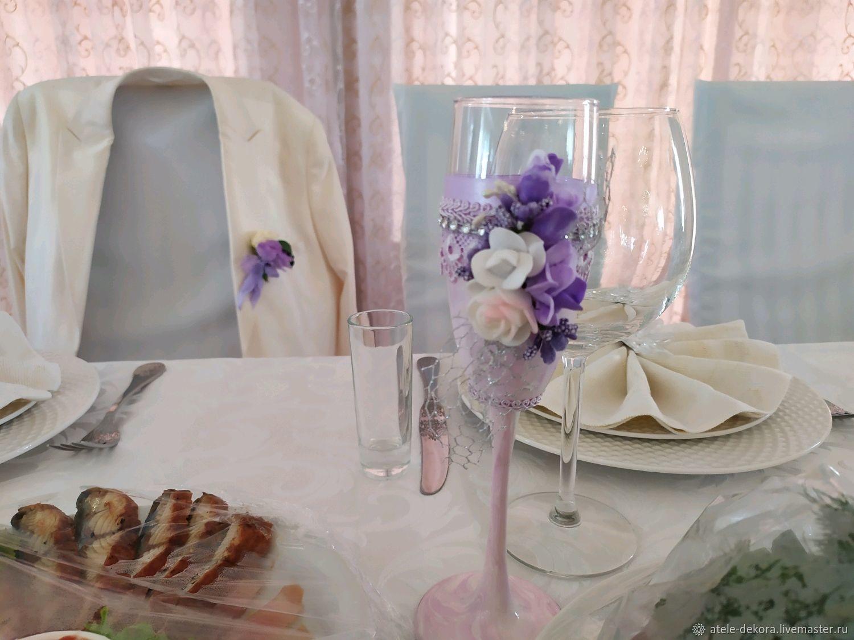 Бокалы Мраморная роза, Бокалы, Сочи, Фото №1