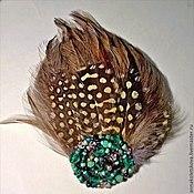 Украшения ручной работы. Ярмарка Мастеров - ручная работа Украшение для волос из перьев Райская птица. Handmade.