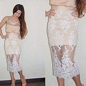 Одежда ручной работы. Ярмарка Мастеров - ручная работа Топ и юбка из кружева. Handmade.