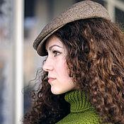 Аксессуары ручной работы. Ярмарка Мастеров - ручная работа Коричневая твидовая кепка унисекс для любителей стильных нарядов. Handmade.