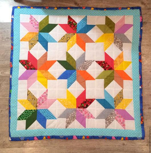 Детская ручной работы. Ярмарка Мастеров - ручная работа. Купить Детское лоскутное одеяло. Handmade. Комбинированный, лоскутный коврик