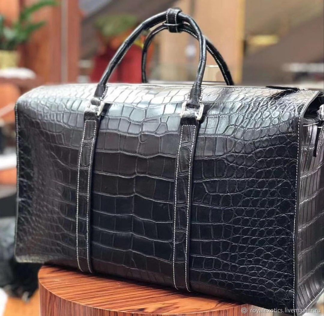 Travel / sports bag made of crocodile belly, Sports bag, Tosno,  Фото №1