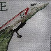 """Картины и панно ручной работы. Ярмарка Мастеров - ручная работа Картина крестом """"Конкорд"""". Handmade."""
