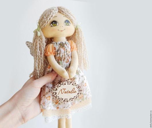 Человечки ручной работы. Ярмарка Мастеров - ручная работа. Купить Летний Ангел. Handmade. Бежевый, текстильные куклы, ангел с именем