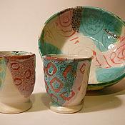 Посуда ручной работы. Ярмарка Мастеров - ручная работа Для вина и сока, для чая и кофе. Handmade.