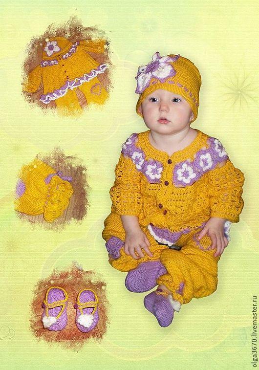 Одежда для девочек, ручной работы. Ярмарка Мастеров - ручная работа. Купить Детский костюм. Handmade. Желтый, детский комплект