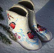 """Обувь ручной работы. Ярмарка Мастеров - ручная работа Валенки по мотивам работ """"Морозко"""" (Взрослые). Handmade."""
