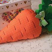 Подарки к праздникам ручной работы. Ярмарка Мастеров - ручная работа Морковка. Интерьерная игрушка.. Handmade.