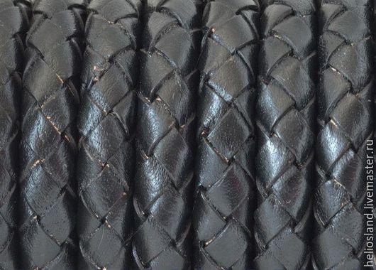 Для украшений ручной работы. Ярмарка Мастеров - ручная работа. Купить Кожаный шнур плетеный 10 мм черный. Handmade.