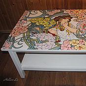 Для дома и интерьера handmade. Livemaster - original item Coffee table with painted.. Handmade.