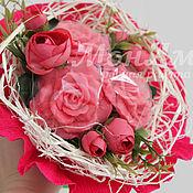 Косметика ручной работы. Ярмарка Мастеров - ручная работа Букет из мыла.Подарок женщине на 8 марта.Мыло букет роз.. Handmade.