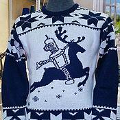 Одежда ручной работы. Ярмарка Мастеров - ручная работа Тату-свитер - Бендер на олене. Handmade.