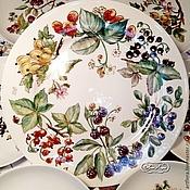 Посуда handmade. Livemaster - original item The painted porcelain.Plates dessert
