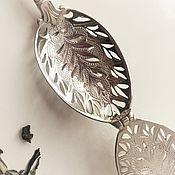 """Подарки ручной работы. Ярмарка Мастеров - ручная работа Серебряная заварочная ложка """"Ампир"""" с гравировкой инициалов. Handmade."""