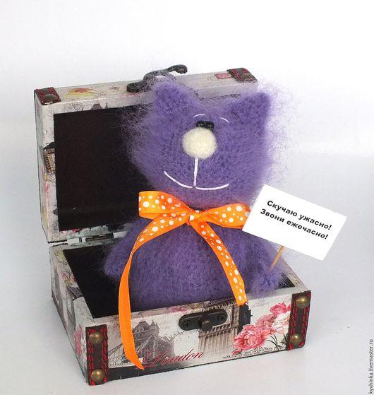 Игрушки животные, ручной работы. Ярмарка Мастеров - ручная работа. Купить Кот Фимка (Вязаная игрушка, подарок, ручная работа). Handmade.