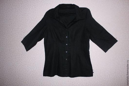 """Блузки ручной работы. Ярмарка Мастеров - ручная работа. Купить Льняная блузка """"Черная"""". Handmade. Черный, черный лен"""