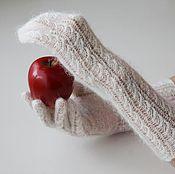 Аксессуары ручной работы. Ярмарка Мастеров - ручная работа Ажурные пуховые перчатки ЭВА. Handmade.