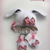 Работы для детей, handmade. Livemaster - original item Hat and mittens