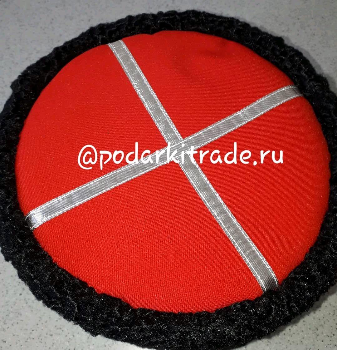 Кубанка из искусственного черного каракуля с красным верхом, Шапки, Краснодар,  Фото №1