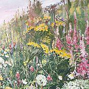 """Картины ручной работы. Ярмарка Мастеров - ручная работа Картина """"Цветы луговые"""". Handmade."""