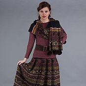 Одежда ручной работы. Ярмарка Мастеров - ручная работа Вязаный комплект юбка с шарфом. Handmade.