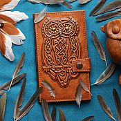 "Сумки и аксессуары handmade. Livemaster - original item Leather wallet ""MAGIC OWL"". Handmade."