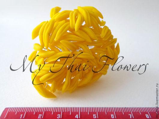Тычинки для лилий желтые My-Thai.  Материалы для флористики из Таиланда.