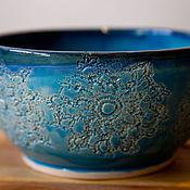 Посуда ручной работы. Ярмарка Мастеров - ручная работа Бирюзовые ромашки. Handmade.