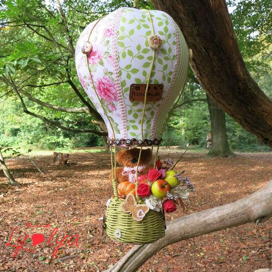 Воздушный шар для хозяйки. Элемент декора. Декорирование. Текстильный воздушный шар Текстильный воздушный шар от от Лена+Вика=Орпики