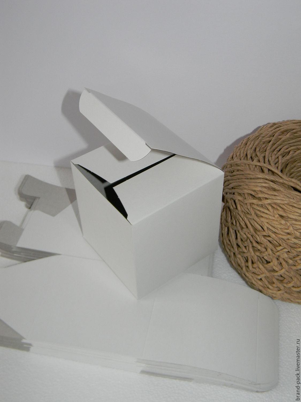 Коробка 10x10x10 см, белый картон, Материалы для творчества, Нижний Новгород, Фото №1