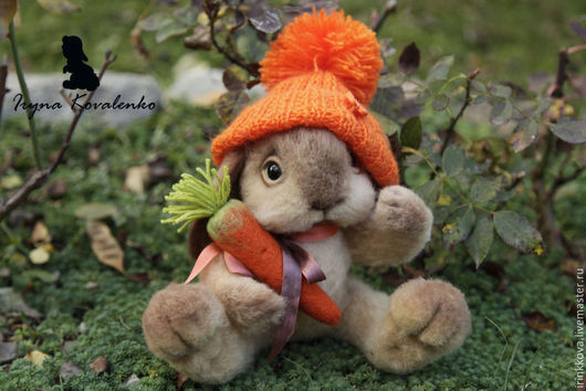 Игрушки животные, ручной работы. Ярмарка Мастеров - ручная работа. Купить Сева Морковкин. Handmade. Оранжевый, зайчик, морковь