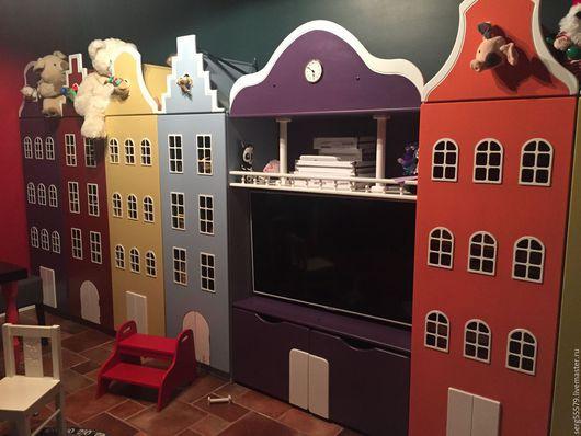 Детская ручной работы. Ярмарка Мастеров - ручная работа. Купить Шкаф-стеллаж в виде голландского домика. Handmade. Домики