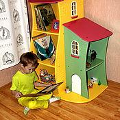 Для дома и интерьера ручной работы. Ярмарка Мастеров - ручная работа Угловой стеллаж-домик. Handmade.