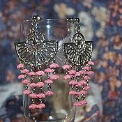"""Серьги классические ручной работы. Ярмарка Мастеров - ручная работа Серьги розовые """"Сакура"""" серьги с цветами серьги с подвесками. Handmade."""